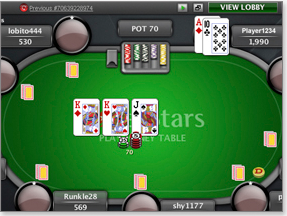 PokerStars Game Screenshot
